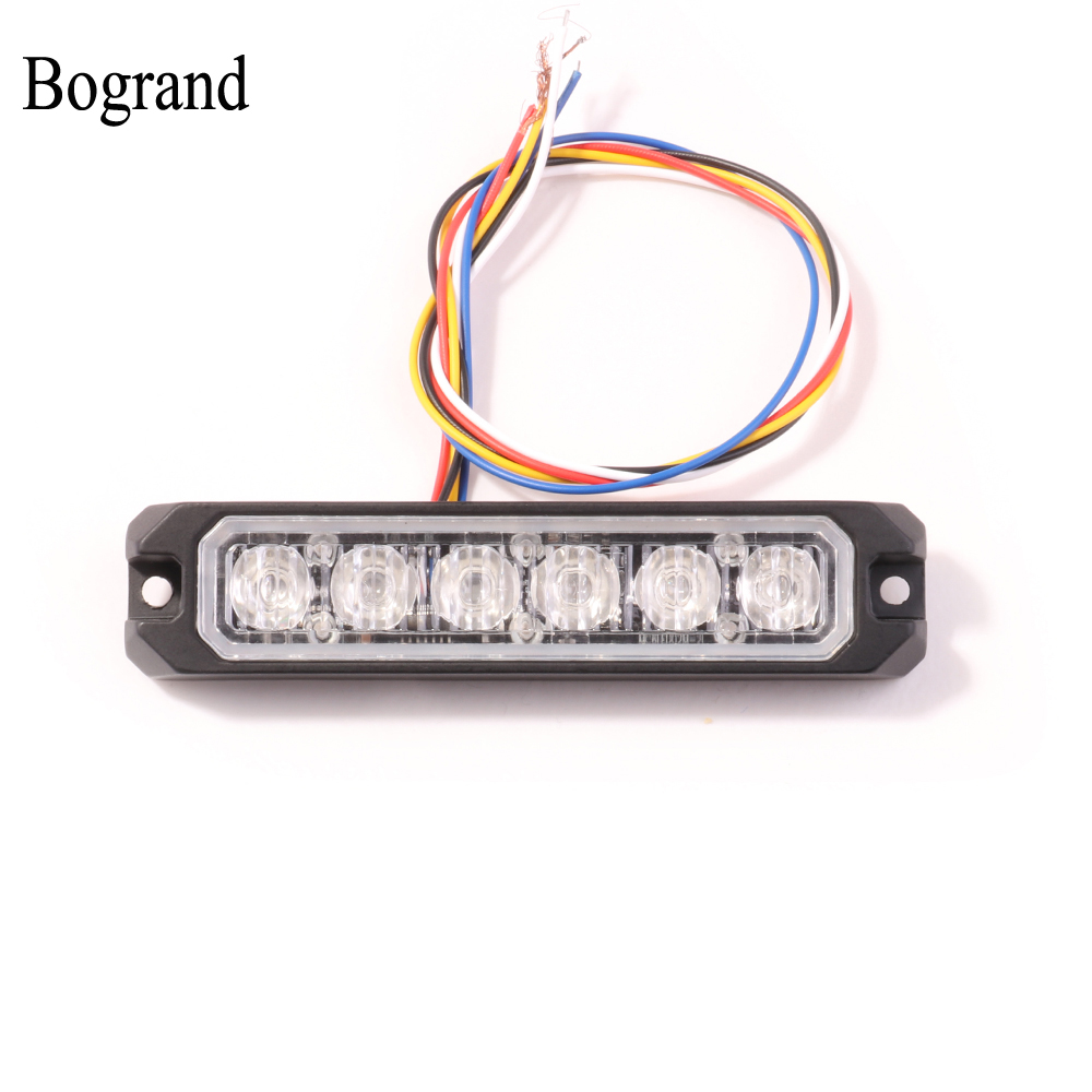 Bogrand Amber Strobe Light 12v Synchronization Flashing Lights Car Warning Light 24V Surface Mounted Emergency Light Bar