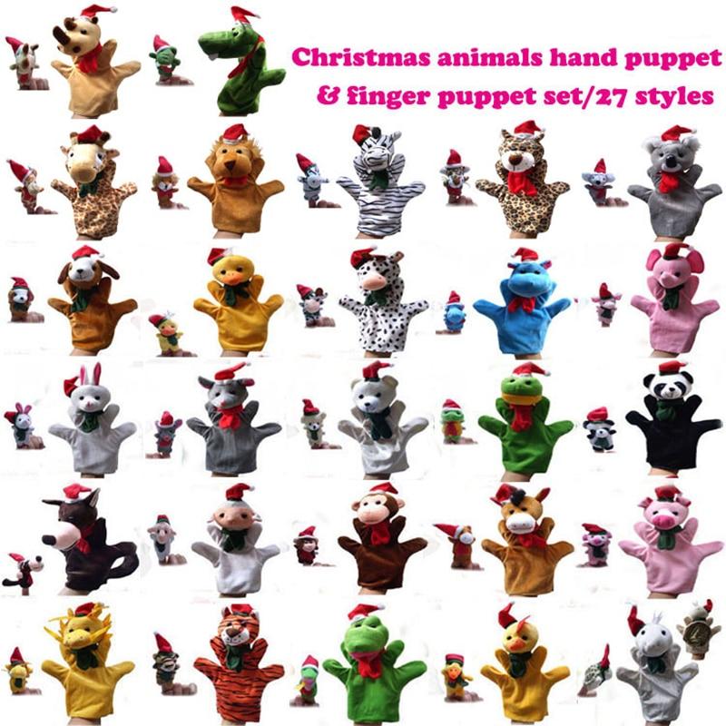 27 סוגים של חיות חג המולד הורה וילד - צעצועים ממולאים