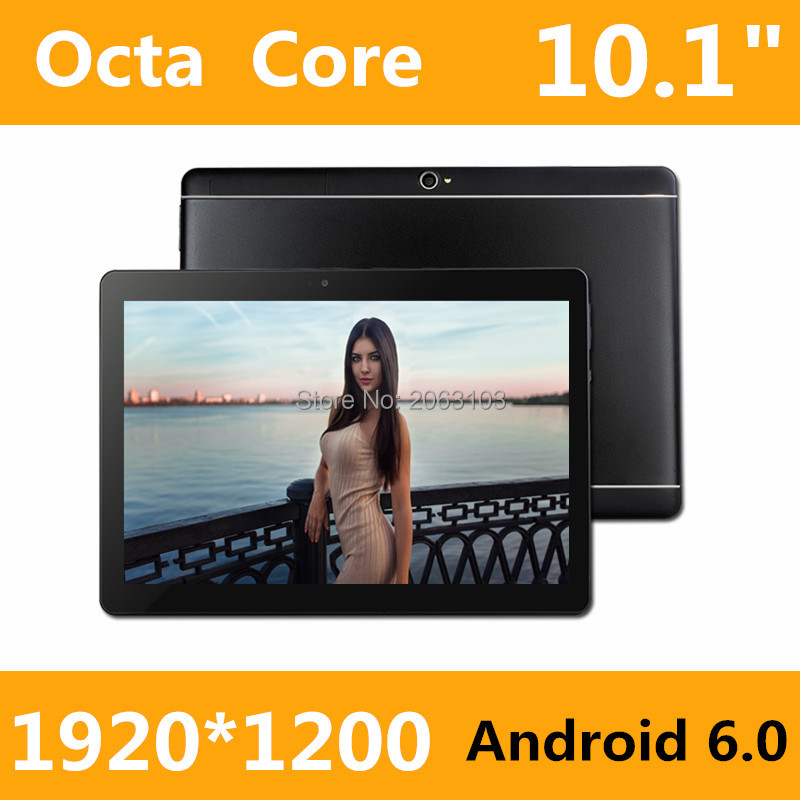 2017 New 10 inch Octa Core 3G Tablet 4GB RAM 32GB ROM 1920*1200 Dual Cameras Android 6.0 Tablet 10.1 inch Free Shipping