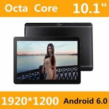 2017 Nueva 10 pulgadas Octa Core 3G de la Tableta 4 GB RAM 32 GB ROM 1920*1200 Cámaras Duales del Androide 6.0 de la Tableta de 10.1 pulgadas Envío Gratis