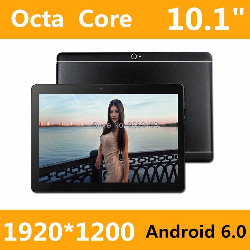 2017 Nuovo 10 pollice Octa Core 3G Tablet 4 GB di RAM 32 GB ROM 1920*1200 Dual Camera Android 6.0 Tablet 10.1 pollice Spedizione Gratuita