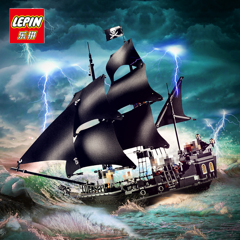 804pcs LEPIN 16006 Pirates of the Caribbean The Black Pearl Building Blocks Set 4184 Lovely Educational BoyToy For Children Game waz compatible legoe pirates of the caribbean 4184 lepin 16006 804pcs the black pearl building blocks bricks toys for children