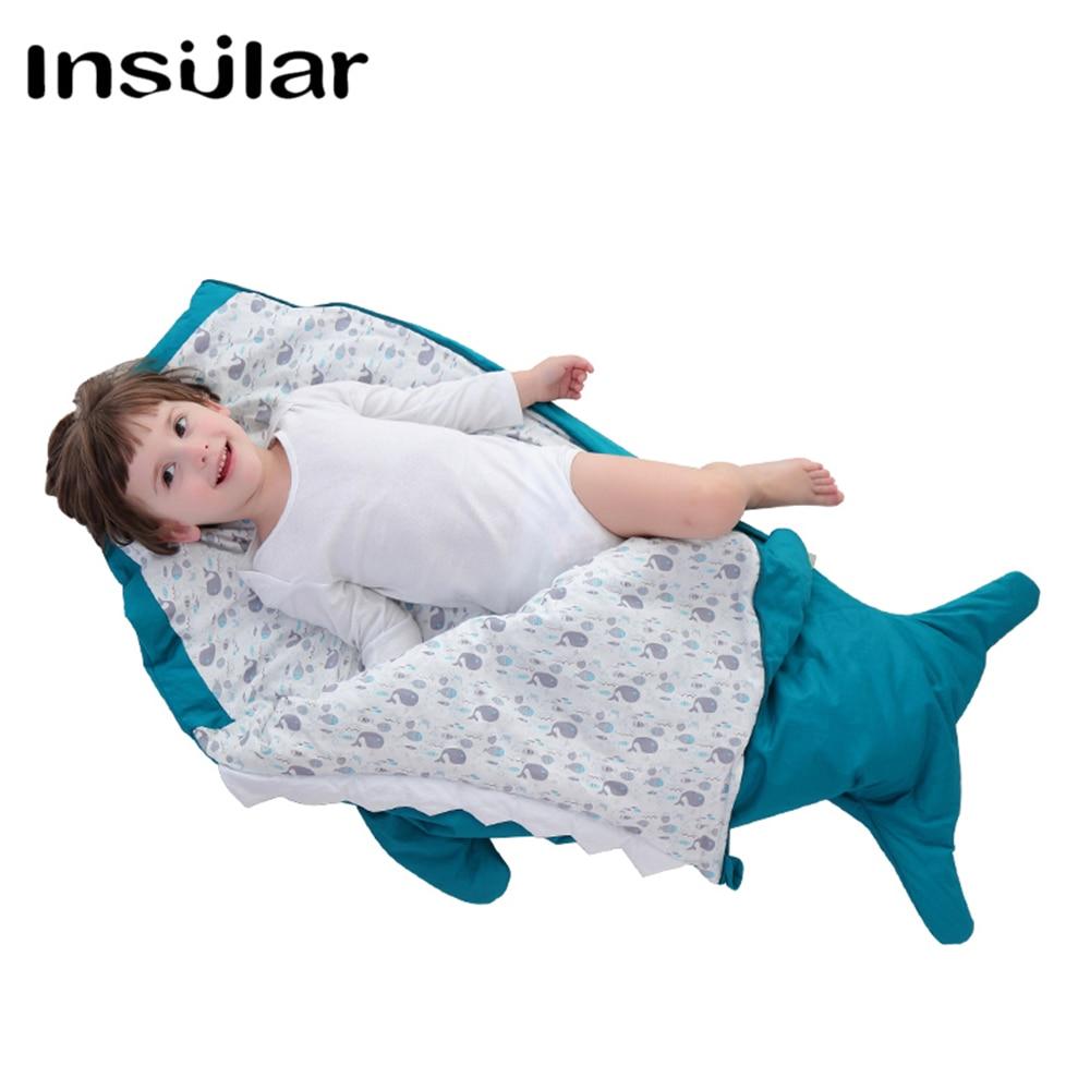 Kids Baby Sleepsacks Children Sleeping Bags Winter Shark Sleep Sack Infant Stroller Sleeping Bag Blanket Newborn Warm Swaddle shark baby sleeping bag shark slaapzak
