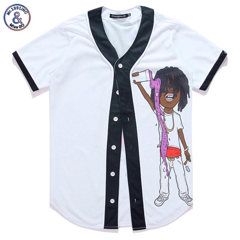 Mr.1991inc nueva moda hombres mujeres 3D camiseta divertida niño vierta  bebidas historieta hip hop botón v-cuello camiseta verano tops Camisetas  Tees 1d46ea158d7