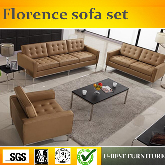 Beau U BEST High Quality Florence Knoll Replica Leather Sofa 123 Seater,  Sectional Corner New