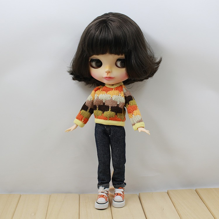 Neo Blythe Doll Colorful Sweater 4