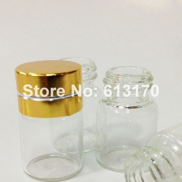 25pcs 2ml Tiny Glass Bottles /& Plastic Lid Sample Vials Clear little Bottle