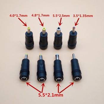 5 sztuk 5 5*2 1mm kobieta do 4 0*1 7mm 4 8 #215 1 7mm 3 5 #215 1 35mm 5 5 #215 2 5mm mężczyzna DC wtyczka zasilania jack Audio adapter złącza Laptop tanie i dobre opinie DC adapter plug YanYunDZ
