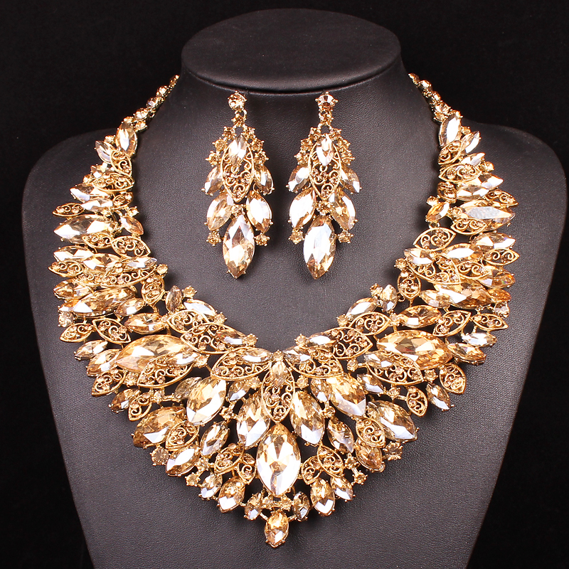 Brautschmuck set gold  Indischen Set Gold Schmuck Werbeaktion-Shop für Werbeaktion ...