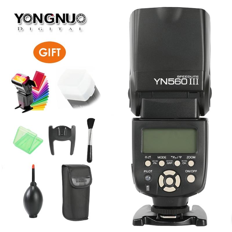 YONGNUO YN560III YN560-III YN560 III Wireless Flash Speedlite Speedlight for Canon Nikon Olympus Panasonic Pentax Camera DSLR yongnuo yn560 iii yn560iii flash speedlite flashlight for canon nikon pentax olympus panasonic dslr camera upgrade of yn560 ii