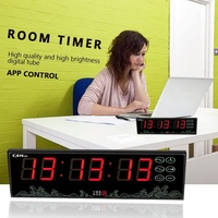 [GANXIN]battery powered modern led usb clock wall clock electronic hours minutes seconds count up countdown clock