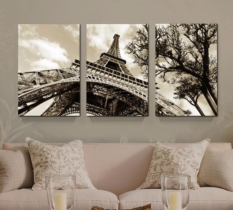 3Pcs Set Modern Famous Building Paris Eiffel Tower No Frame Canvas Painting  Spray Wall Art Picture For Living Room DecorOnline Get Cheap Paris Framed Art  Aliexpress com   Alibaba Group. Framed Pictures For Living Room. Home Design Ideas