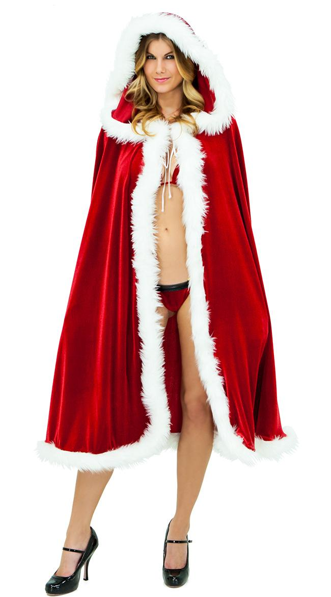Halloween cloak red cloak Christmas clothes Christmas red cloak hat adult sexy cloak