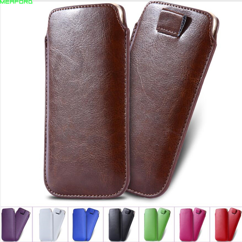 For Samsung J2 pro 2017 A3 J5 Prime J3 Emerge case Sleeve pouch Universal Leather case for samsung Z4 S7 On5 J1 cover Pull Bag