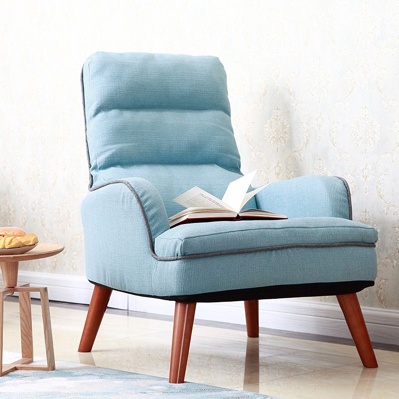 Japanese Low Chair Upholstery Fabric Seat Living Room Furniture Legs Wood Occasional Modern Accent Chairs With Double Armchair