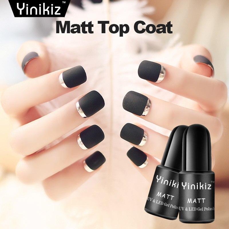 Matte Black Gel Nail Polish: Yinikiz Matte Top Coat Gel Varnish For Super Matt Black
