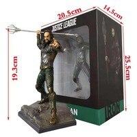 DC Justice League Iron Studios Aquaman 1/10 Scale Statue Figure Toy Doll Brinquedos Figurals Model Gift