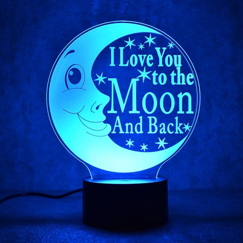 AIMIHUO 2017 new Moon Light LOVE moon 3D Nightlight Home Furnishing intelligent lamp energy-saving LED lamp Night Light