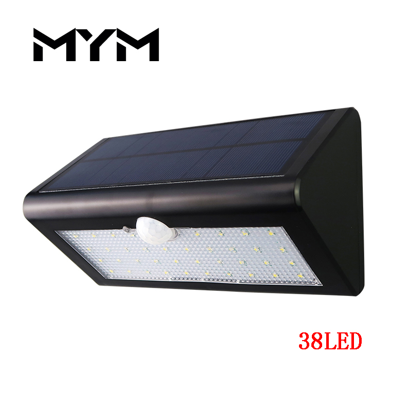 38 LED Solar Light Motion Sensor Solar Lamp Security Wall Light Outdoor Waterproof Solar ...