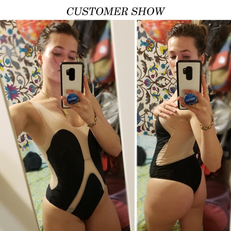 877ed61c489 Sexy transparent bikini 2019 Plus size swimwear women monokini High ...