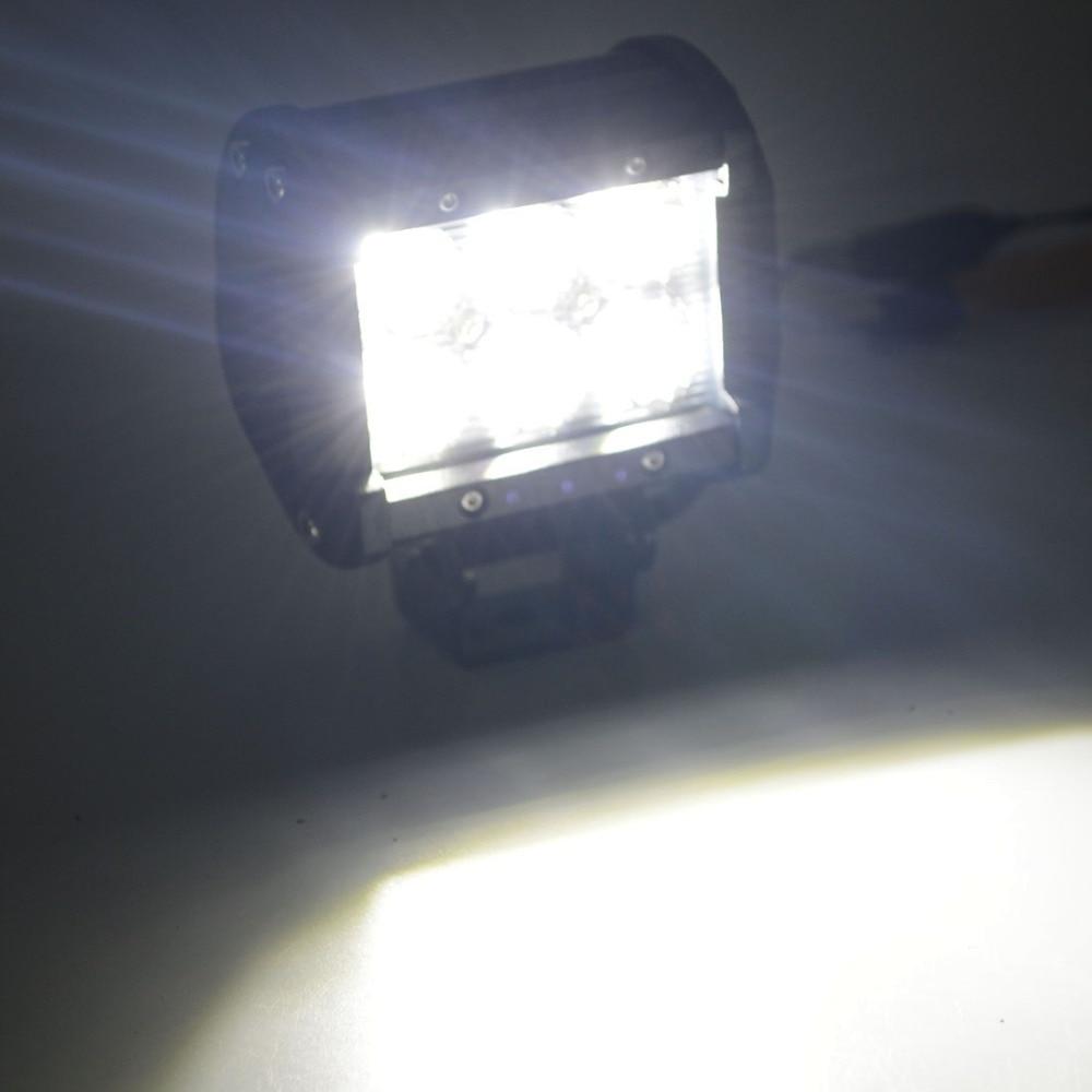 1x Safego led 4 cal 18 w led roboczy pasek światła 12 v Flood Spot - Światła samochodowe - Zdjęcie 5