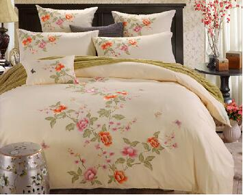 1 5m 1 8m 2 0m Bed Traditional Cream Light Yellow 4pcs