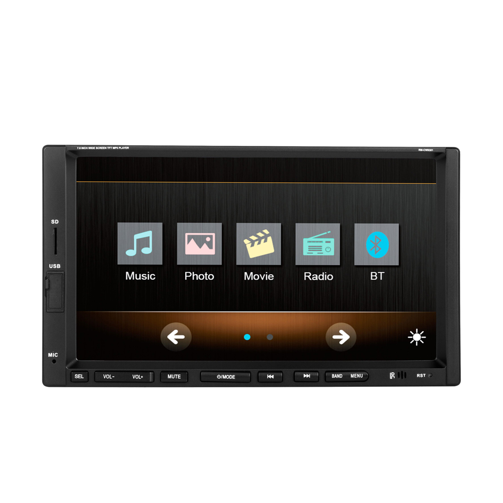 Universal 2 DIN 7'' Touch Screen Car Stereo MP4 Player Car MP5 Audio Player FM Radio Bluetooth USB/AUX/SD Car Radio Head Unit 10 languages 2 din 7 inch car stereo mp5 radio player steering wheel control touch screen bluetooth mp4 player fm tf usb