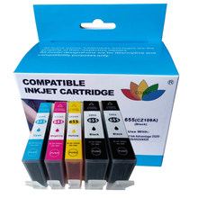 5PCS Compatible HP 655 HP655 C M Y BK Ink Cartridge with chip For HP Deskjet 3525 4615 4625 5525 6520 6525 6625(China)