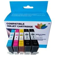Cartucho de tinta  compatível com hp 655 hp655 c m y bk com chip para hp deskjet 3525 4615 4625 5525 6520 6525 6625