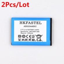 2pcs HKFASTEL Battery AB553446BU for Samsung Xplorer B2100 GT-B2100 C3300 GT-C3300 C5130 C5212 E1110 E1130 E2120 B100 i320 prolife для samsung c3300