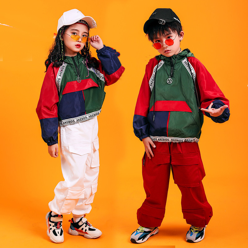 Image 5 - Jazz Hiphop Dance Costume Stage Competition Korean Style Hip Hop Clothes Children Pop Street Dance Wear Suit for Kids Boys GirlsClothing Sets   -