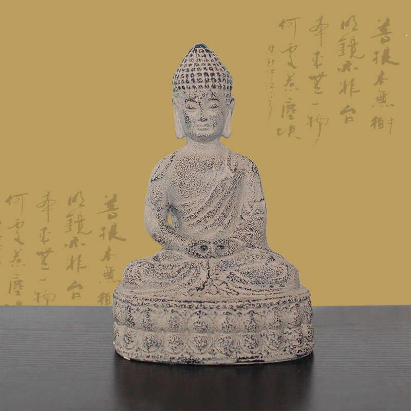 Do old process antique classical figure, Retro buddha statue, creative buddhist, ornament, figurine, crafts gift about 20*14CM