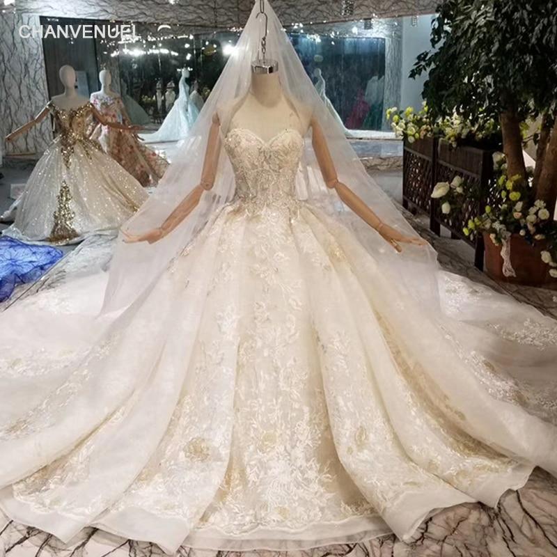 HTL088 sexy senza spalline abito da sposa con velo da sposa senza maniche in pizzo appliques abito da sposa di lusso con il treno lungo nuovo arrivo