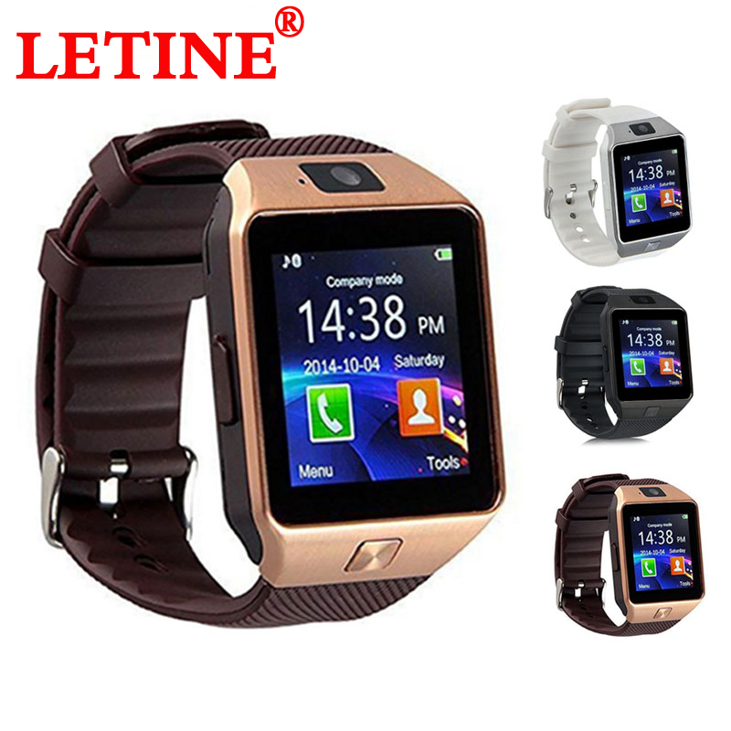 LETINE DZ09 Men Sport Smart Watch Wearable Devices with Camera and Sim Card Bluetooth 3.0 Smartwatch for Android Apple Phone
