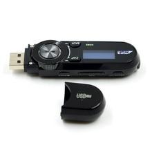 USB LCD Screen Flash Drive 16GB Support Flash TF card Slot MP3 Player FM Radio w/ Earphone Free Shipping