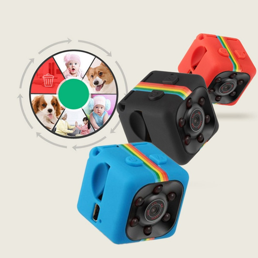 Mini Camera SQ11 HD 1080P Sport DV Mini Camera Night Vision Monitor Camcorders Car DV Digital Video Recorder PK SQ12 SQ 11 Cam lc 08 mini dv headphone 1080p hd sport dv bluetooth headset stereo neck strap video recorder