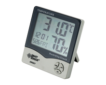 Mini Digital Hygrometer Thermometer Termometer Humidity Temperature Meter Tester Weather Station W/ Calendar & Clock Alarm