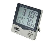 лучшая цена Mini Digital Hygrometer Thermometer Termometer Humidity Temperature Meter Tester Weather Station W/ Calendar & Clock Alarm