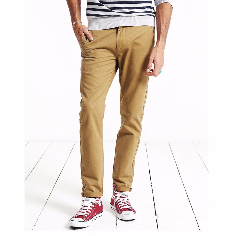 HTB1m4sYXdfvK1RjSspoq6zfNpXa1 Simwood Brand Autumn Winter New Fashion 2019 Slim Straight Men Casual Pants 100% Pure Cotton Man Trousers Plus Size KX6033