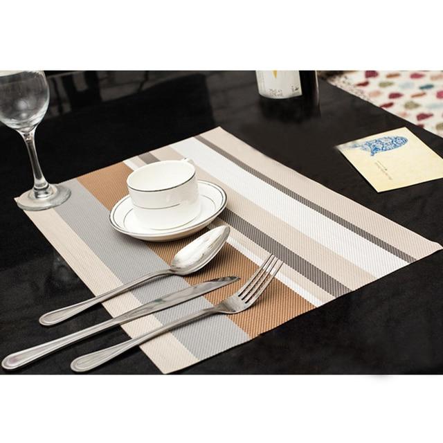 4pcs/set pvc placemat dining table mats set de table bowl pad napkin dining table tray mat coasters kids table set