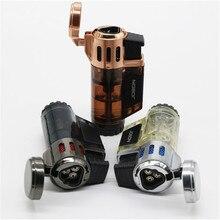Visible gas Blue Flame Spray Gun Electronic Lighter  1300C Butane Torch Turbo Cigar Cigarette Lighters Men