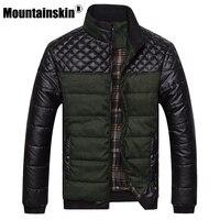 2015 New Classic Brand Men Fashion Warm Jackets Plus Size L 4XL Patchwork Plaid Design Young