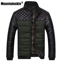 2015 New Classic Brand Men Fashion Warm Jackets Plus Size L 4XL Patchwork Plaid Design Young