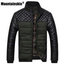 Mountainskin Brand Men\'s Jackets and Coats 4XL PU Patchwork Designer Jackets Men Outerwear Winter Fashion Male Clothing SA004 - DISCOUNT ITEM  16% OFF Men\'s Clothing