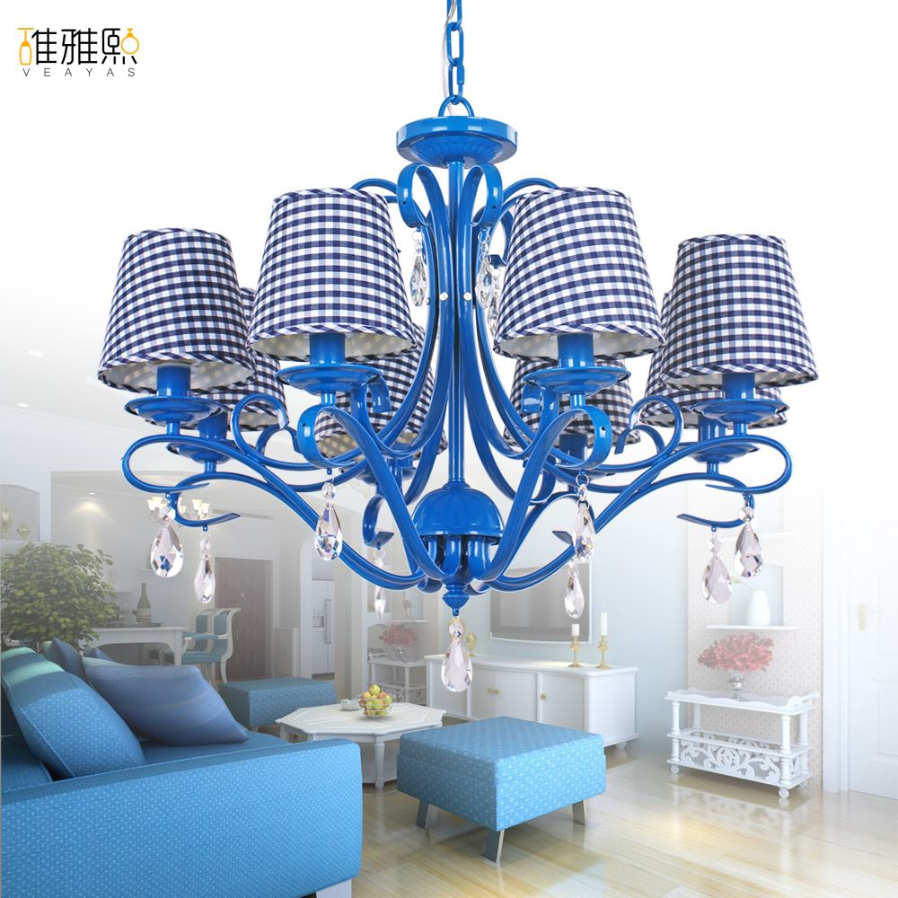 lustres lamp Fabric  lampshade chandelier iron modern  chandeliers indoor lighting fixture black chandelier