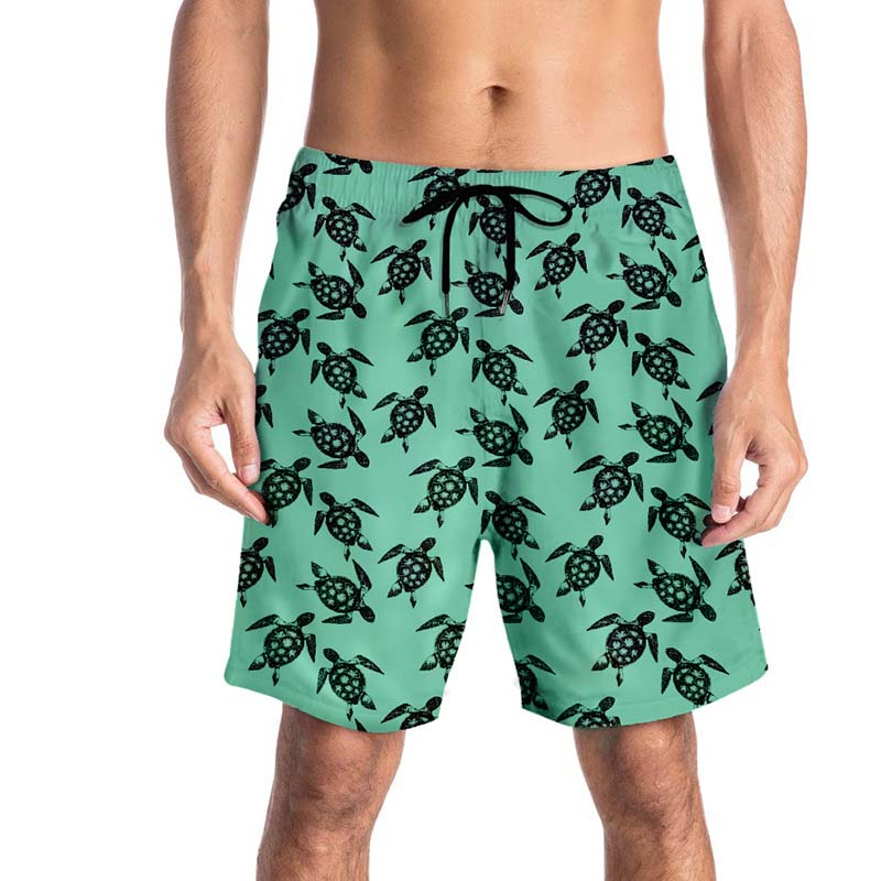 Animal Silhouettes Men/â/€s Beach Board Shorts Quick Dry Swim Truck Shorts
