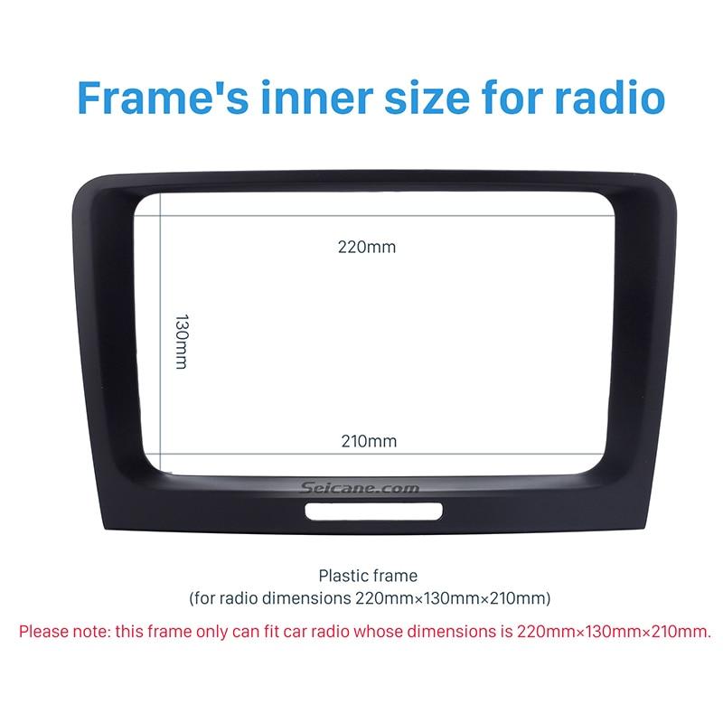 Seicane excellent Double Din Fascia CD DVD Frame for 2009-2014 Skoda Superb Surround Panel Car Fitting Adaptor Dash