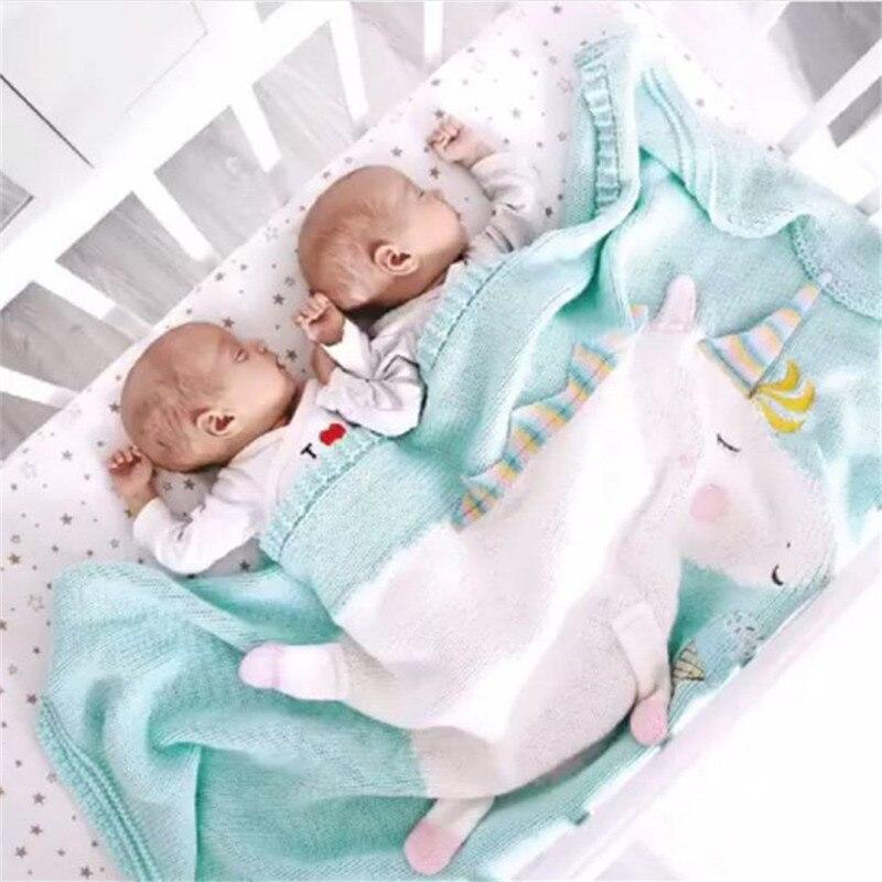 Mother & Kids Blanket & Swaddling Lovely Baby Cotton Blanket Newborn Cute Big Flamingo Blanket Soft Warm Knitted Cartoon Swaddle Kids Bath Towel Toddler Bedding Blanket