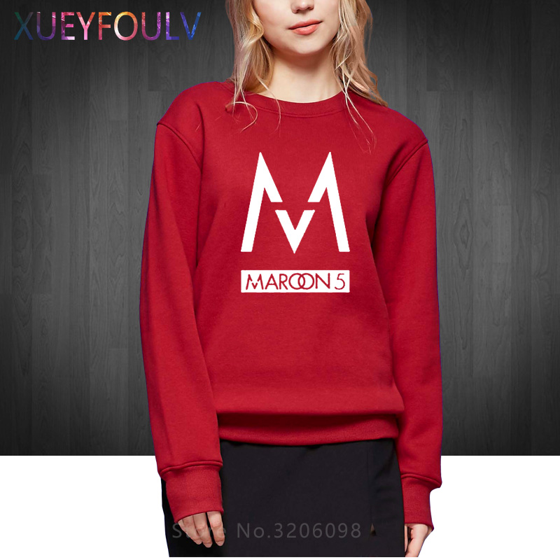 Free Shipping Women fashion 2018 band Maroons 5 Woman Sweatshirts rock band Hoodies hip hop cotton Pullover