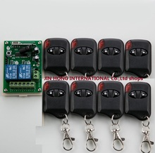 DC12V 2CH Wireless Remote Control Switch System teleswitch 1& Receiver +8& cat eye Transmitters for Appliances Gate Garage Door